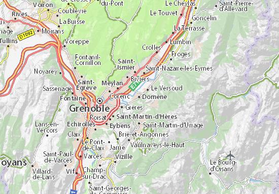Kaart Plattegrond Domène