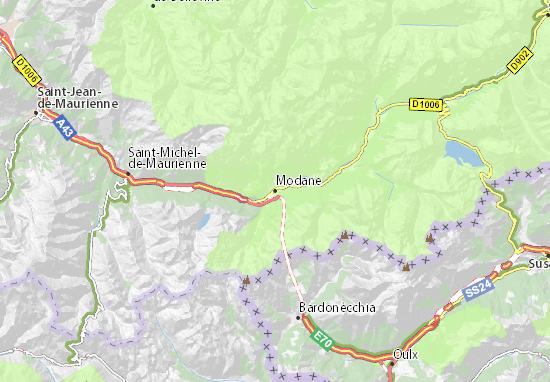Modane Map