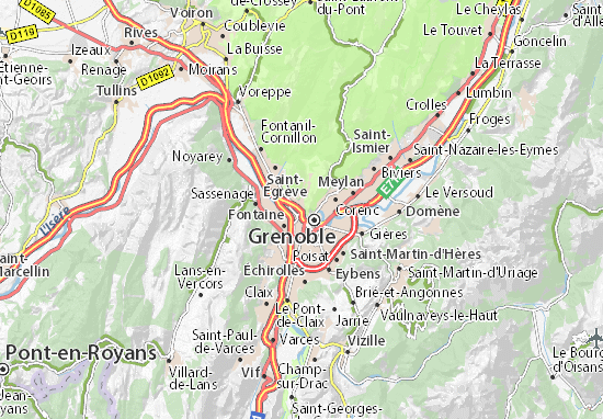 Saint-Martin-le-Vinoux Map