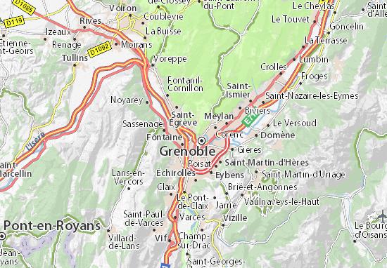 Mappe-Piantine Saint-Martin-le-Vinoux