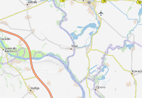 titel mapa Mapa Titel– plan Titel – ViaMichelin titel mapa
