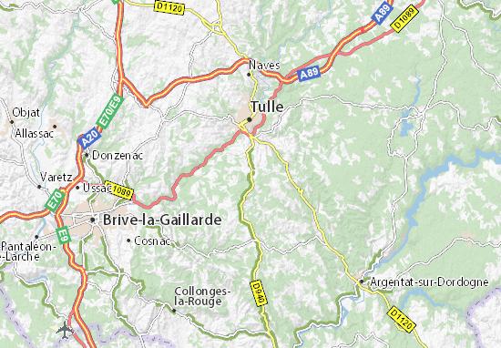 Carte-Plan Sainte-Fortunade