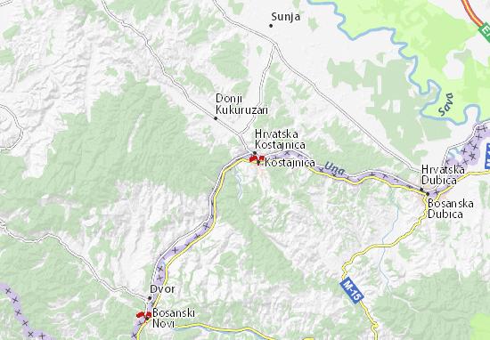 Mapa Plano Bosanska Kostajnica