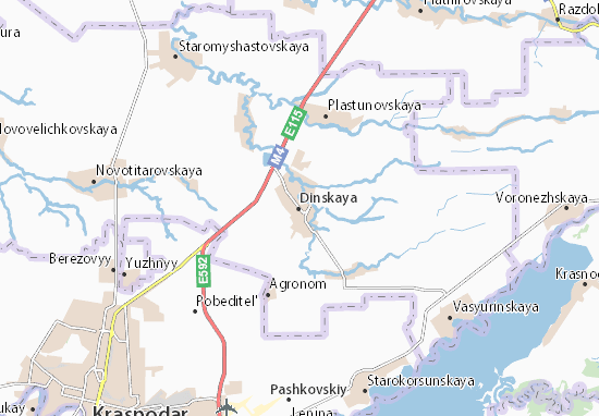 Kaart Plattegrond Dinskaya