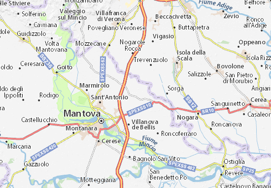 Karte Stadtplan Castelbelforte