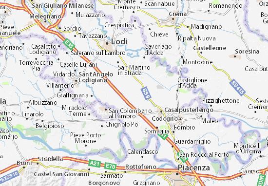 Karte Stadtplan Brembio