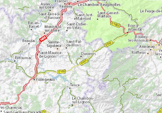 Carte-Plan Dunières