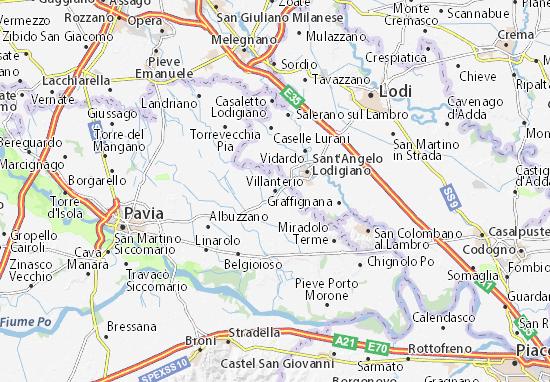 Karte Stadtplan Villanterio
