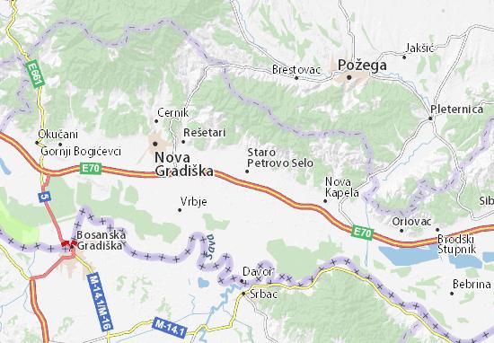 Mapa Plano Staro Petrovo Selo