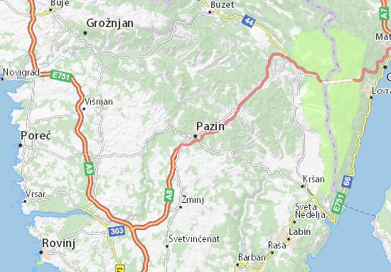 Karte Stadtplan Pazin