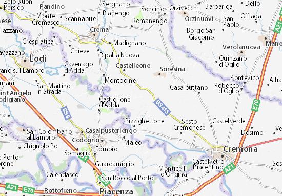 Karte Stadtplan San Bassano