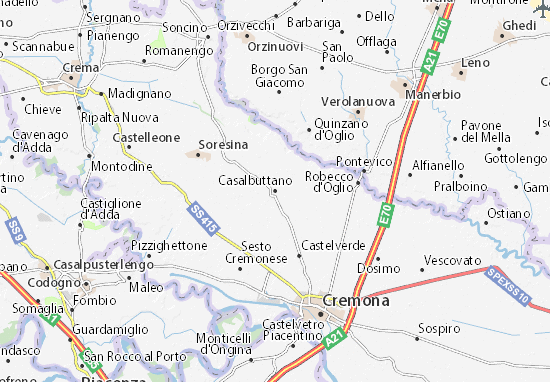 Karte Stadtplan Casalbuttano