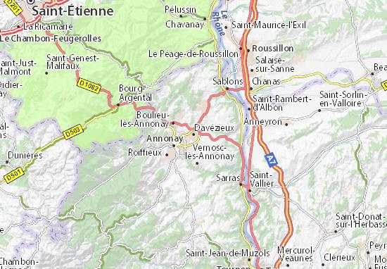 Davézieux Map