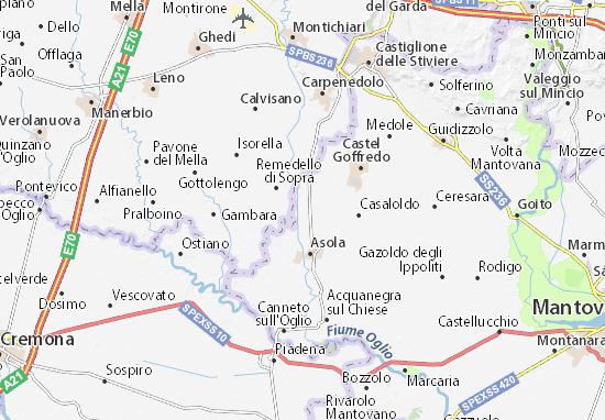 Kaart Plattegrond Casalmoro