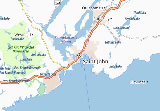 Carte-Plan Saint John