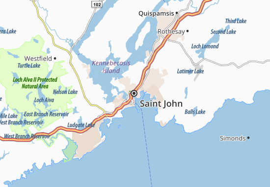Kaart Plattegrond Saint John