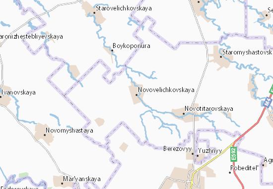 Carte-Plan Novovelichkovskaya