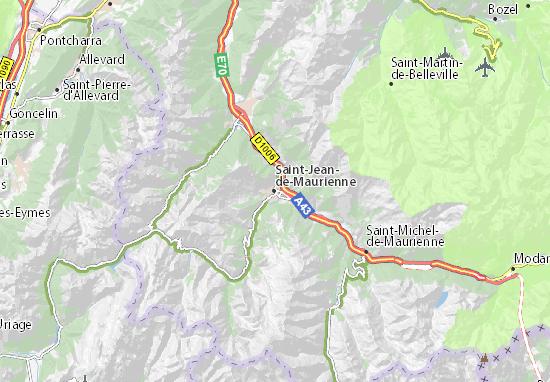 Kaart Plattegrond Saint-Jean-de-Maurienne