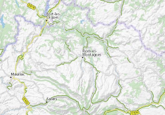 Carte-Plan Riom-ès-Montagnes