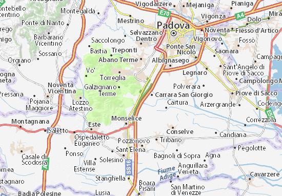 Battaglia Terme Map
