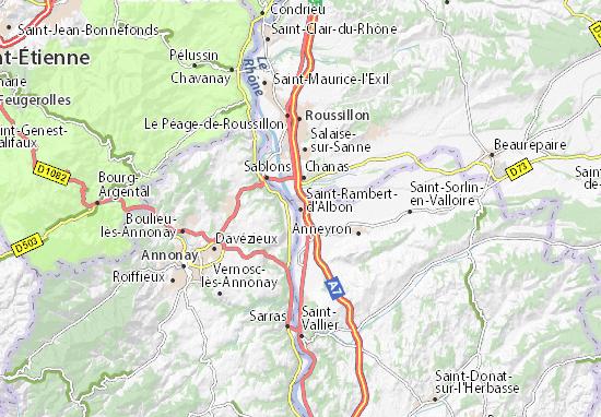 Mapa Plano Saint-Rambert-d'Albon
