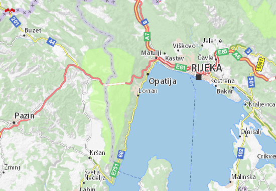 Lovran Map