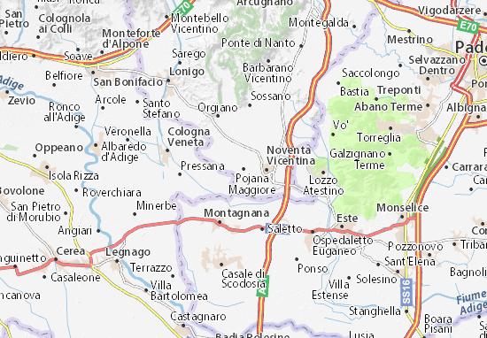 Mapas-Planos Pojana Maggiore