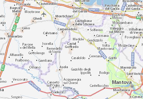Kaart Plattegrond Castel Goffredo
