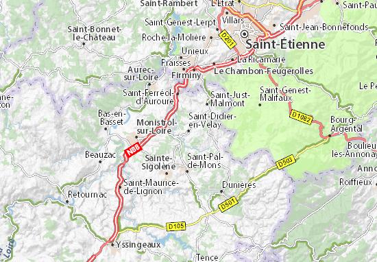 Karte Stadtplan Saint-Didier-en-Velay