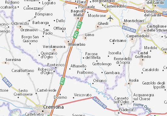 Pavone del Mella Map