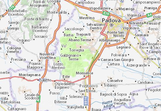 Karte Stadtplan Galzignano Terme