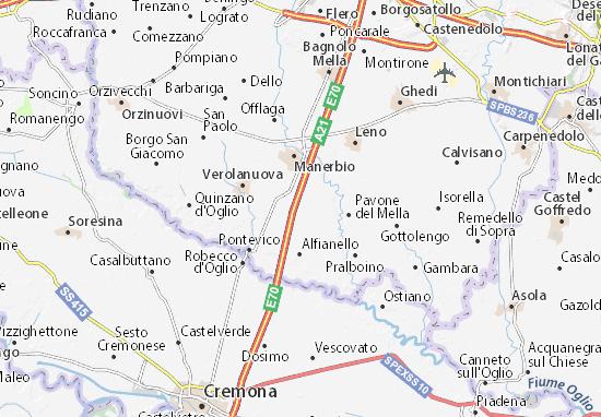 Karte Stadtplan San Gervasio Bresciano