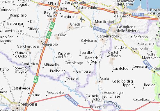 Kaart Plattegrond Isorella