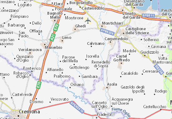 Isorella Map