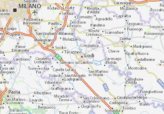 Kaart Plattegrond Lodi