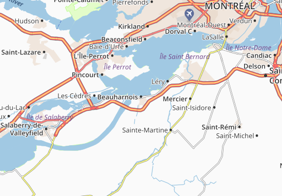Beauharnois Map