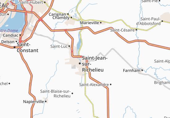 Saint-Athanase Map