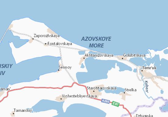 Mapa Plano Akhtanizovskaya