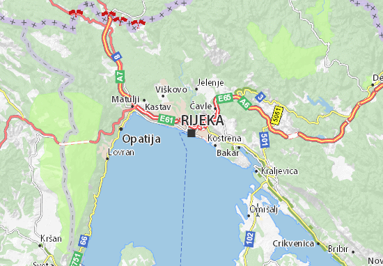 Rijeka Map
