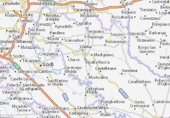 Karte Stadtplan Ripalta Nuova