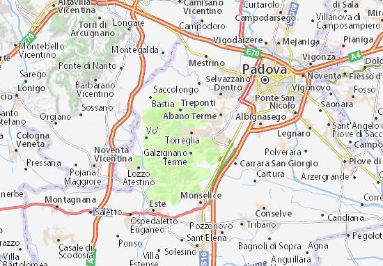 Torreglia Map