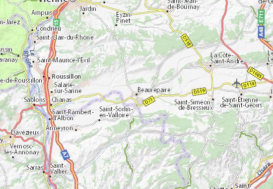 Karte Stadtplan Beaurepaire