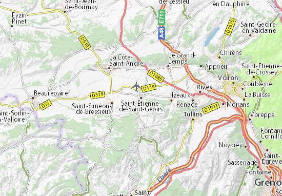 Mapa Plano Saint-Étienne-de-Saint-Geoirs