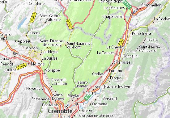 Carte d taill e saint pierre de chartreuse plan saint - Office du tourisme st pierre de chartreuse ...