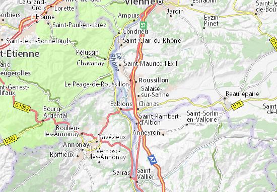 Carte-Plan Salaise-sur-Sanne