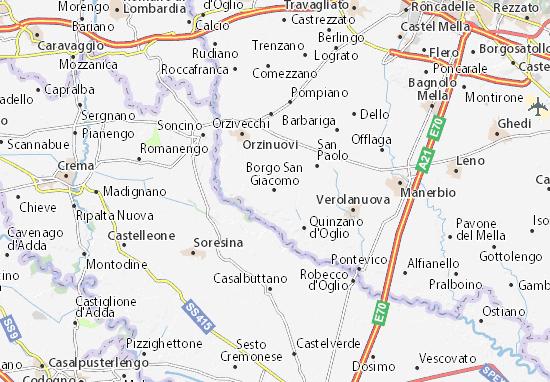 Carte-Plan Borgo San Giacomo