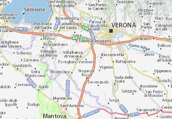Mapas-Planos Povegliano Veronese