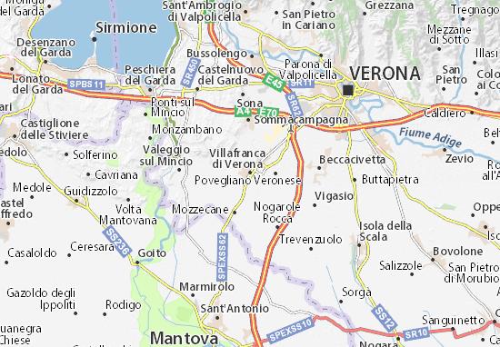 Mapas-Planos Villafranca di Verona