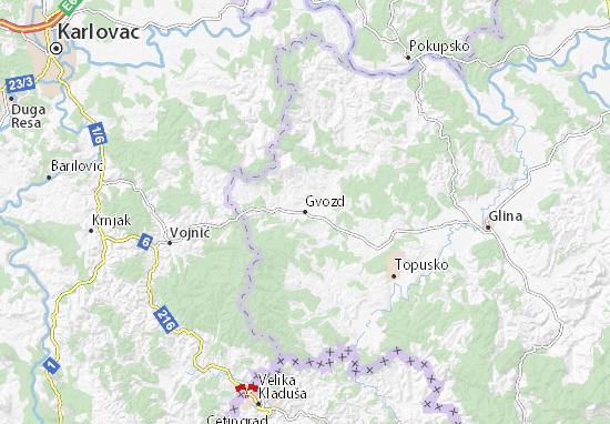 Carte-Plan Gvozd