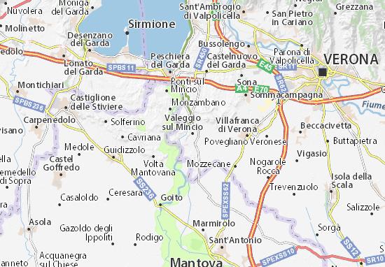 Kaart Plattegrond Valeggio sul Mincio